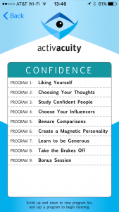 confidence programs in activacuity