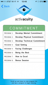 commitment programs in activacuity