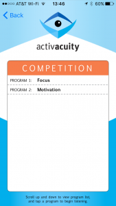 competition programs in activacuity