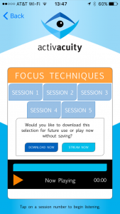 sessions from activacuity